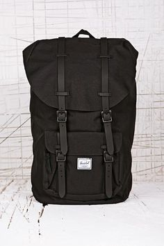 2b745877bcc8 Herschel Little America Backpack in Black at Urban Outfitters All Kinds Of  Everything