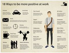 18 More Positive Ways Infographic. Did you know that positivity is heavily contagious? It is a proven fact that if you are more positive, people around you will become positive as well.