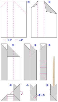 箸袋テンプレート無料ダウンロード|折るだけで簡単に作れる のし付折り紙箸袋の作り方 - 熨斗と水引