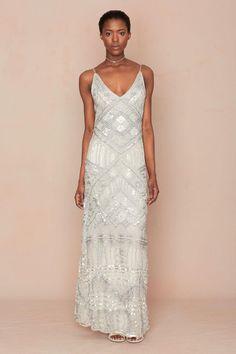 Calypso St. Barth Art Deco-inspired embellished wedding dress
