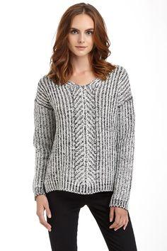 Hi-Lo Knit Sweater