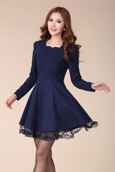 Nice Pretty korean dresses 2017-2018