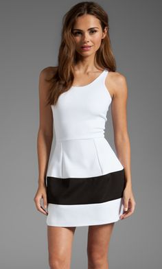 BOULEE MARILYN NO SLEEVE DRESS WHITE/BLACK $231- CALL SPLASH TO ORDER 314-721-6442