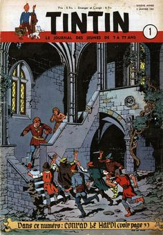 Le Journal de Tintin - Edition Belge - N° 224 - 1951-01 - Mercredi 3 Janvier 1951 - Couverture : Bob de Moor