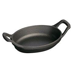 Staub Mini Oval Roasting Dish, Black Matte, 8 oz. - Black Matte