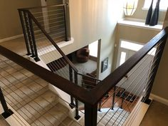 Adalia cable railing Stair Railing Design, Railings, Stainless Steel Cable Railing, Commercial, Stairs, Contemporary, Home Decor, Staircases, Stairway