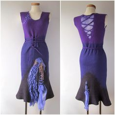 https://flic.kr/p/fQh4gV | Felted dress - violet