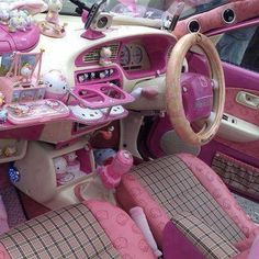 """""""Hello Kitty car interior <--- did we go a little overboard? ^_^;"""" just maby a little"""