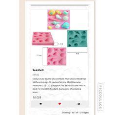 Seashells silicon mold 10 cavities only 10$ CAD available at www. Dgfcreations.ca #seashells #seashellmold #seashellmould
