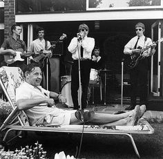 Young Yardbirds doing a house party, 1963. Eric Clapton at left, playing a Fender Telecaster.