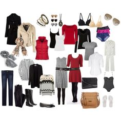 Outfit ideas of packing for Winter in Europe