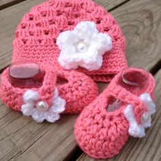Fresh Baby Bootie and Hat Set in Strawberry Fields by StudioCbyE