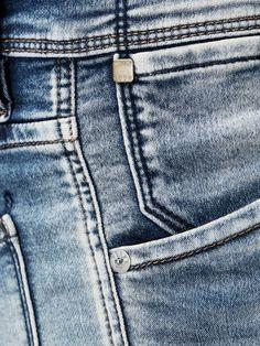 GLENN INDIGO KNIT SLIM FIT JEANS, Blue Denim Love Jeans, Denim Jeans Men, Jeans Style, Denim Ideas, Denim Trends, Yellow Jeans, Blue Denim, Types Of Jeans, Denim Branding