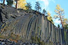 Devils Postpile National Monument near Mammoth Lakes. (Sierra Nevada), eastern California.