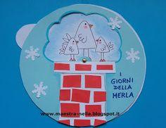 maestra Nella: i giorni della merla (2) School Bags, Art School, Valentino, Pixel Art, Giraffe, Crafts For Kids, Mandala, Creations, Teaching