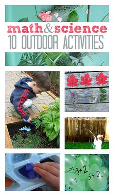 {#math and science : 10 outdoor activities} perfect activities to accompany our Backyard Science Investigations eLesson: http://ecademy.playfullearning.net/backyard-science-investigations/