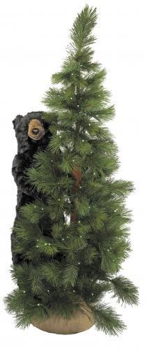 bear decor | Scotch Pine Bear Black 72'' at Rocky Mountain Cabin Decor
