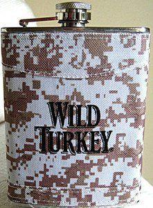 Wild Turkey Bourbon Camoflauge Stainless Steel Flask by Wild Turkey Distillery. $17.99