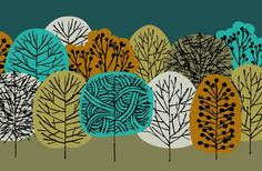 Fall Forest Print by Eloise Renouf on Little Paper Planes