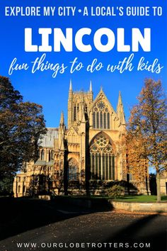 Fun Family thyings to do when visiting the city of Lincoln in the UK. An insiders guide for family vacations and days out in Lincoln | UK Day Trips | Uk Family Vacations Lincoln Cathedral, Cathedral City, Family Vacations, Family Travel, Day Trips Uk, Amazing Destinations, Travel Destinations, Lincoln Uk, Bucket List Life