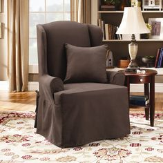 Found It At Wayfair   Twill Supreme Wing Chair Slipcover