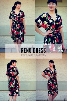 NEW PATTERN FOR SALE: The Reno Dress PDF sewing pattern and Step by Step sewing tutorial