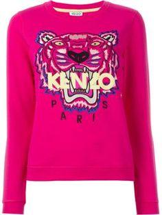'Tiger' sweatshirt $323 #farfetch #cute #kenzoDesigner