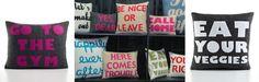 Recycled felt pillows designed by Alexandra Ferguson | eco-friendly green gift ideas
