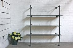 Bronze+Glass+and+Dark+Steel+Pipe+Wall+Mounted+and+by+inspiritdeco,+£995.00