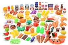 Toy Foods - Kangaroo Deluxe Pretend Food 120 Piece Set ** More info could be found at the image url.