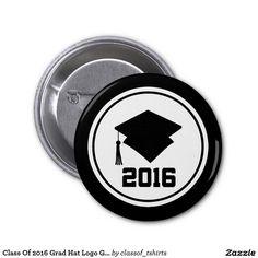 Class Of 2016 Grad Hat Logo Graduation Button
