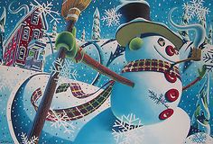 """""""Let's Go Sliding"""", Limited Edition, Signed Giclee Print by Wade Zahares"""