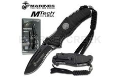 U.S. Marines by MTech USA USA M-A1020BKCS SPRING ASSISTED KNIFE