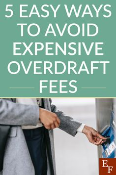 5 Easy Ways to Avoid Expensive Overdraft Fees | Everything Finance Checking Account, Finance Blog, Hard Earned, Save Your Money, The Hard Way, Above And Beyond, Budgeting Tips, Make Sense, Money Saving Tips