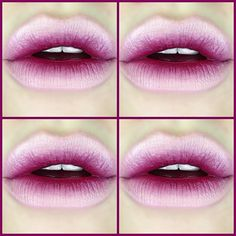 #ShareIG I love a reverse ombre lip like no other  MAC Fleshpot (Pro) and Media Lipsticks with NYX Pale Pink Lipliner.
