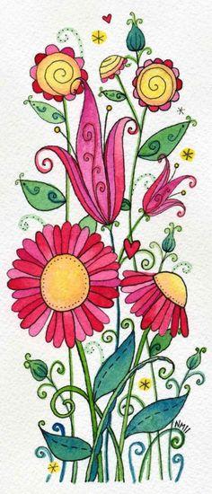 Sweet Strawberries Original Watercolor