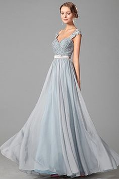 Elegant Beaded Lace Straps Evening Dress Prom Gown (00151032) - USD 211.22