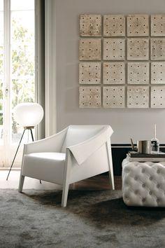 white + folded + tufted + grid + smoke hues