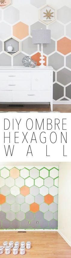 DIY Wanddeko - Hexagon Muster selber machen