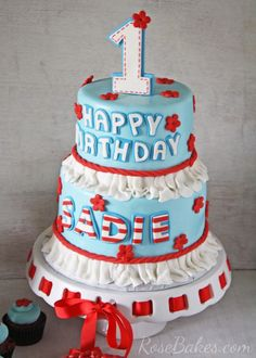 Raggedy Ann Party:  Raggedy Ann Cake, Smash Cake