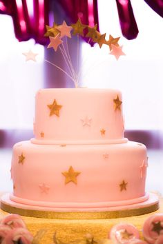 Cake from a Twinkle Twinkle Little Star Birthday Party via Kara's Party Ideas KarasPartyIdeas.com (24)