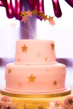 Cake from a Twinkle Twinkle Little Star Birthday Party via Kara's Party Ideas KarasPartyIdeas.com (24)