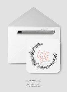 Printable Valentine Cards   Lovely Indeed