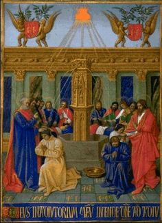 Jean Fouquet -The Apostles Receive their Mission,1452-60.  Art Experience NYC  www.artexperiencenyc.com/social_login/?utm_source=pinterest_medium=pins_content=pinterest_pins_campaign=pinterest_initial