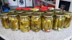 Zapamätajte si tento recept na celú sezónu: Najlepší recept na uhorky bez vareného nálevu, iný postup už ani nehľadajte! Cooking Tips, Cooking Recipes, Pickling Cucumbers, Tomato Vegetable, Kefir, Pickles, Food To Make, Sausage, Mason Jars