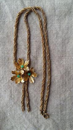 Necklace Grosse 1967 Germany multi strand gold by vintagefullhouse