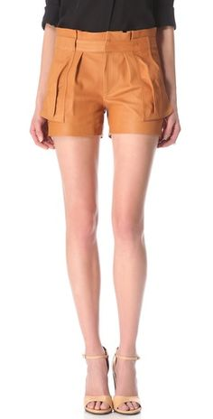 these a.l.c. leather shorts are making me sweat i want them so much. wah!