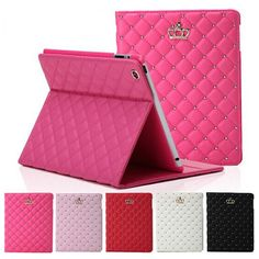 Wholesale Discount Beautiful Cover For Ipad mini 1/2/3 PU Case Cover for Ipad With Stand Fashional High Quality Case PD000204