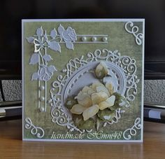 Butterfly Cards, Flower Cards, Party Gifts, Tea Party, Tattered Lace Cards, Scrapbooking, 3d Cards, Marianne Design, Pretty Cards