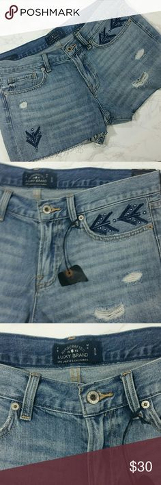 """Lucky Brand """"The Cut Off"""" shorts Perfect for Summer! 100% Cotton  Size 12/31 Length - 12"""" Lucky Brand Shorts"""